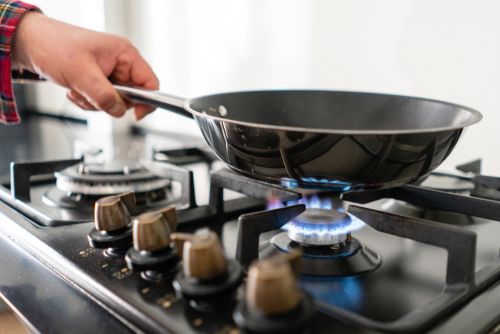 propane stove cooking
